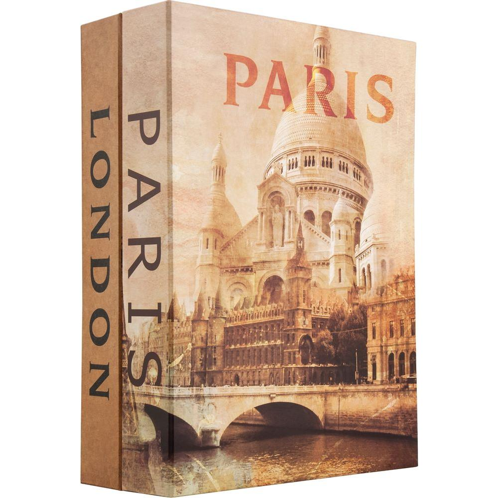 0.14 cu. ft. Steel Paris and London Dual Book Lock Box