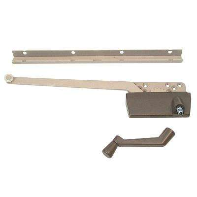 9-1/2 in. Bronze Right-Arm Wood Casement Operator with Track