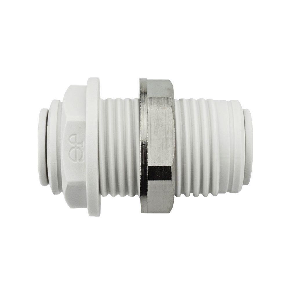 Push To Connect Fittings >> John Guest 3 8 In Push To Connect Bulkhead 10 Pack