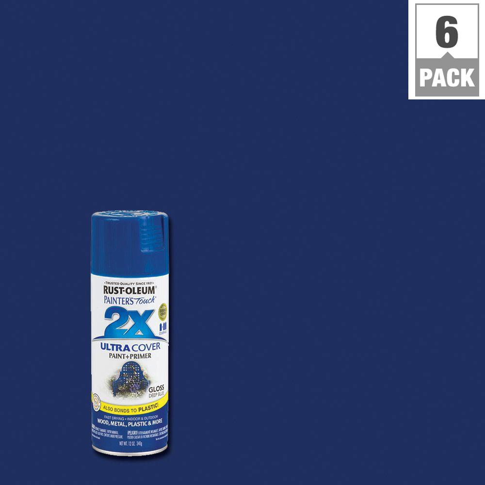 12 oz. Gloss Deep Blue General Purpose Spray Paint (6-Pack)