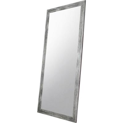 Oversized Gray Composite Rustic Mirror (70.5 in. H X 31.5 in. W)