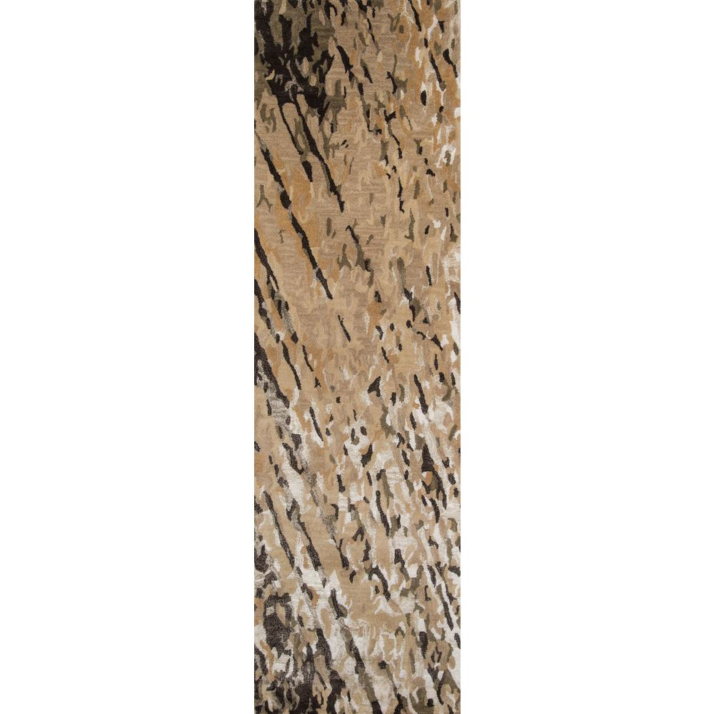 Momeni Zen ZEN-8 Brown 2 ft. x 8 ft. Hand Tufted Wool Runner Rug