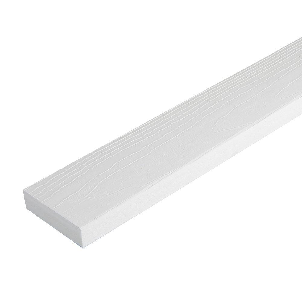 1 in. x 2-1/2 in. x 10 ft. White HP Reversible