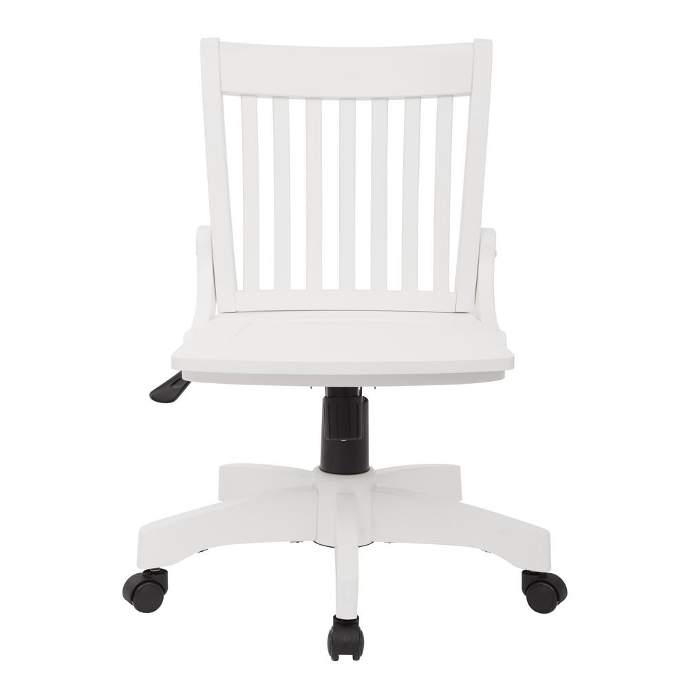 Ospdesigns Deluxe White Wood Bankers Chair