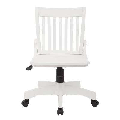 Deluxe White Wood Bankers Chair