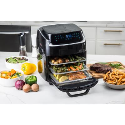 modernhome-Aria 10 Qt. Black AirFryer with Recipe Book