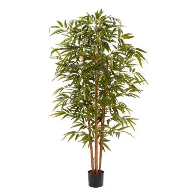 72 in. Artificial Bamboo Plant with Pot