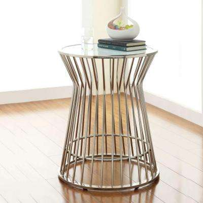 Southgate Chrome Glass Top End Table