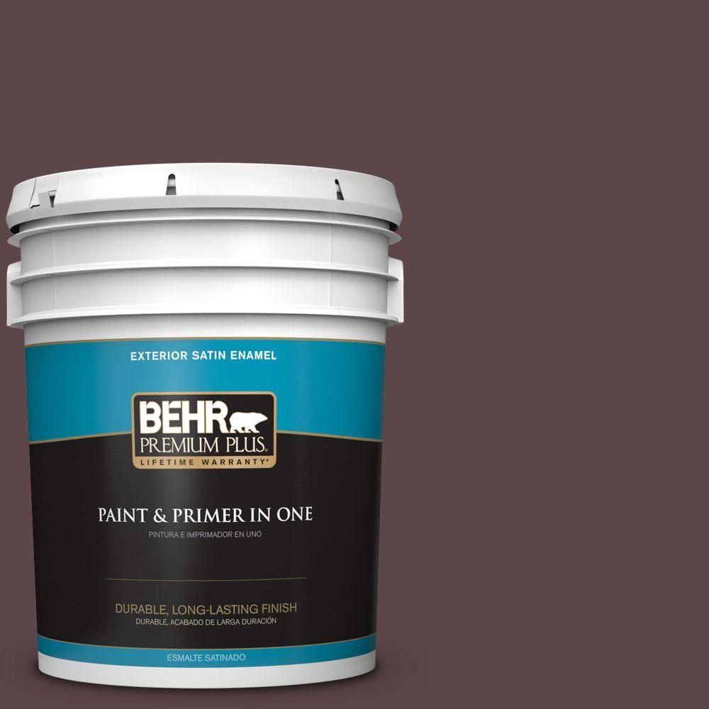 5-gal. #BNC-31 Mahogany Spice Satin Enamel Exterior Paint