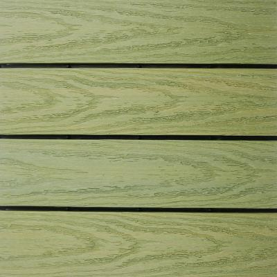 UltraShield Naturale 1 ft. x 1 ft. Quick Deck Outdoor Composite Deck Tile in Irish Green (10 sq. ft. Per Box)