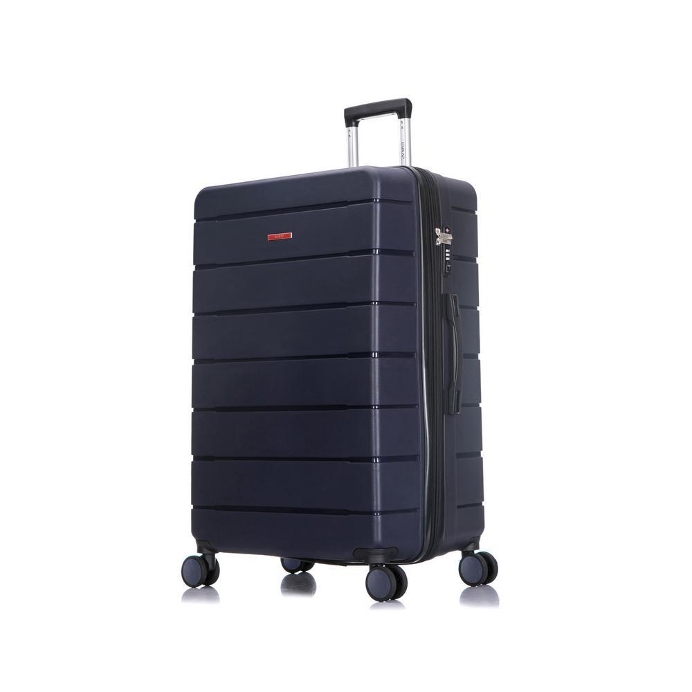Definity 30 in. Blue Lightweight Hardside Spinner Suitcase
