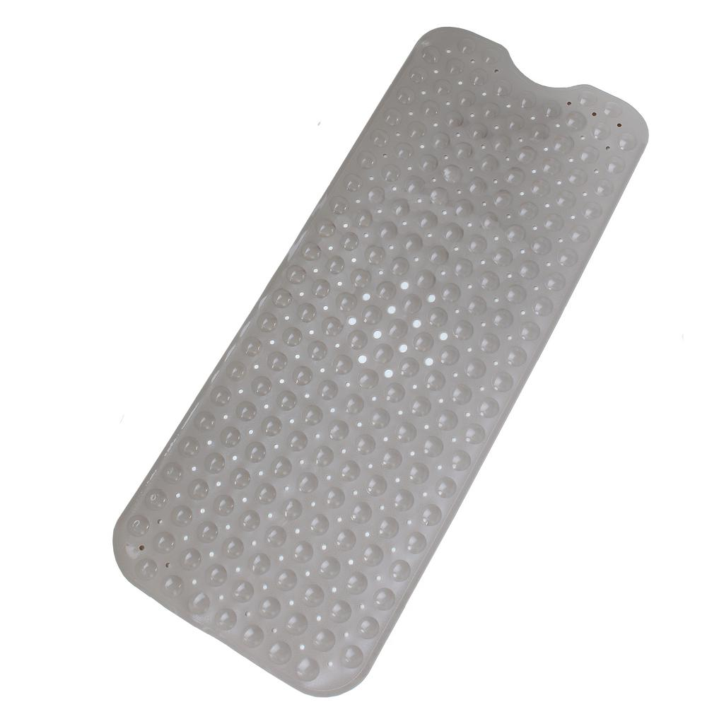 SlipX Solutions 16 in. x 39 in. Extra Long Bath Mat in Tan-05710-1 ...
