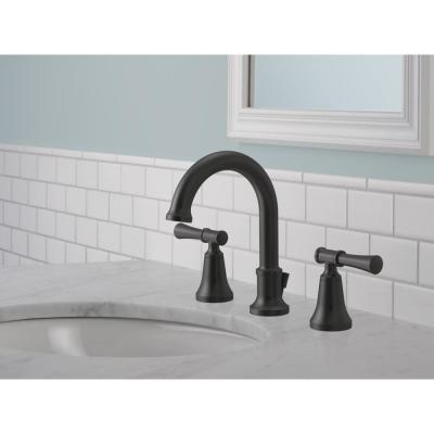 Chamberlain 8 in. Widespread 2-Handle Bathroom Faucet in Matte Black