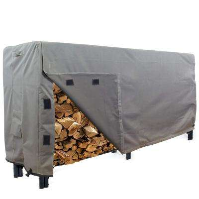 Titan Series 8 ft. Grey Log Rack  Heavy-Duty Protector Cover