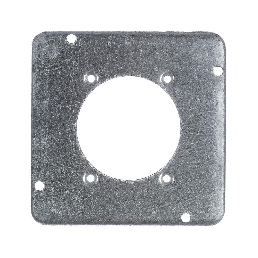 4-11/16 in. Pre-Galvanized Steel Square Box Device Cover for 1 Device