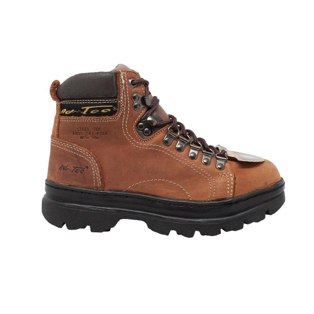 AdTec Women's 6'' Work Boots Steel Toe Brown Size 8.5(M)