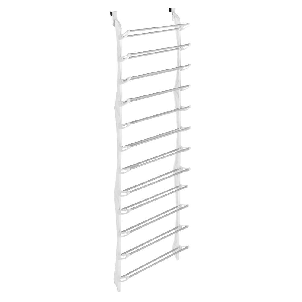 2144728bb73 Shoe Rack Collection 22.63 in. x 74.50 in. 36-Pair Resin Over-the-Door Shoe  Organizer in White