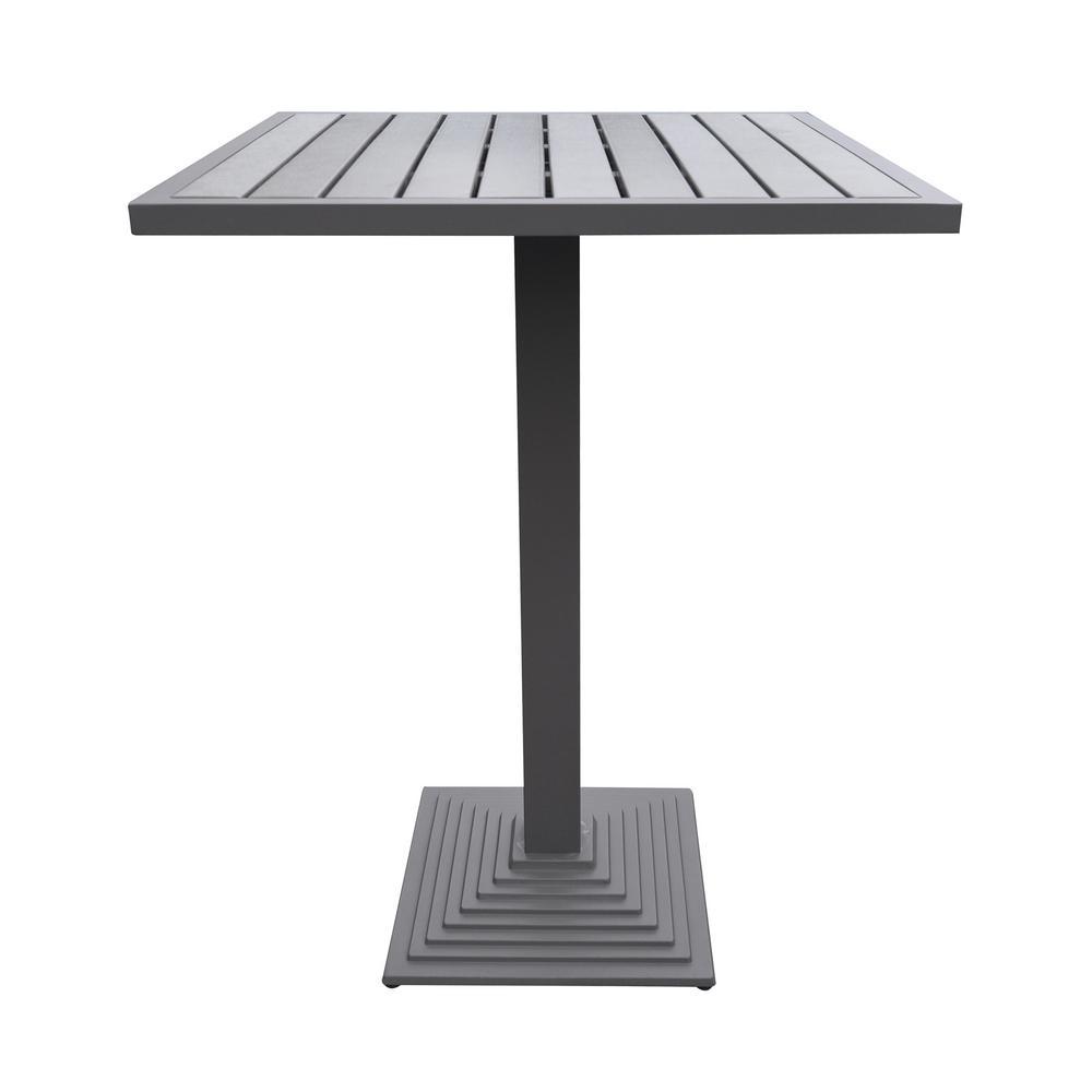 Marina Grey Aluminum Bar Height Outdoor Dining Table