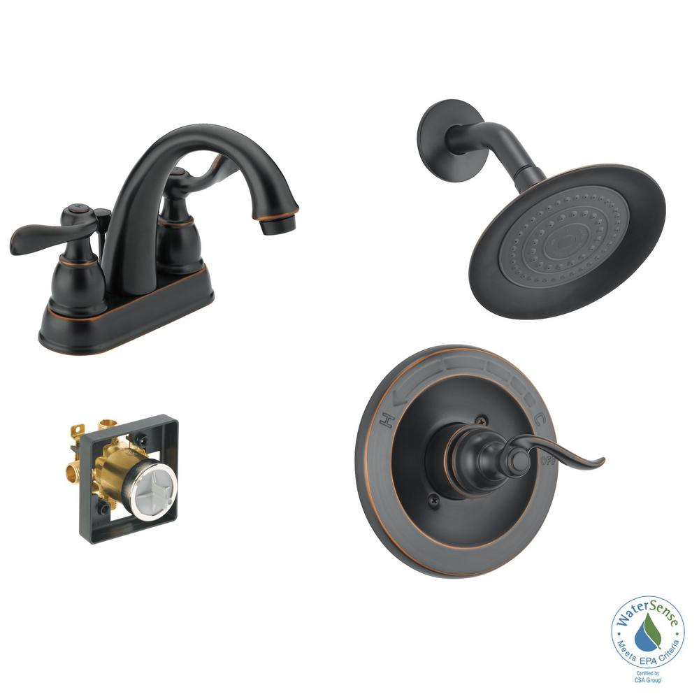 UPC 034449875233 Product Image For Delta Windemere 4 In. Centerset 2 Handle Bathroom  Faucet