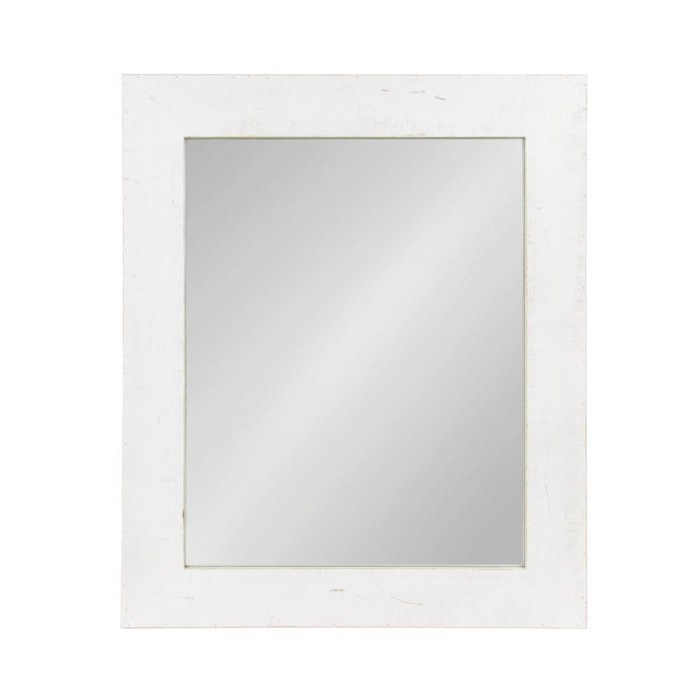 Garvey Rectangle White Accent Mirror