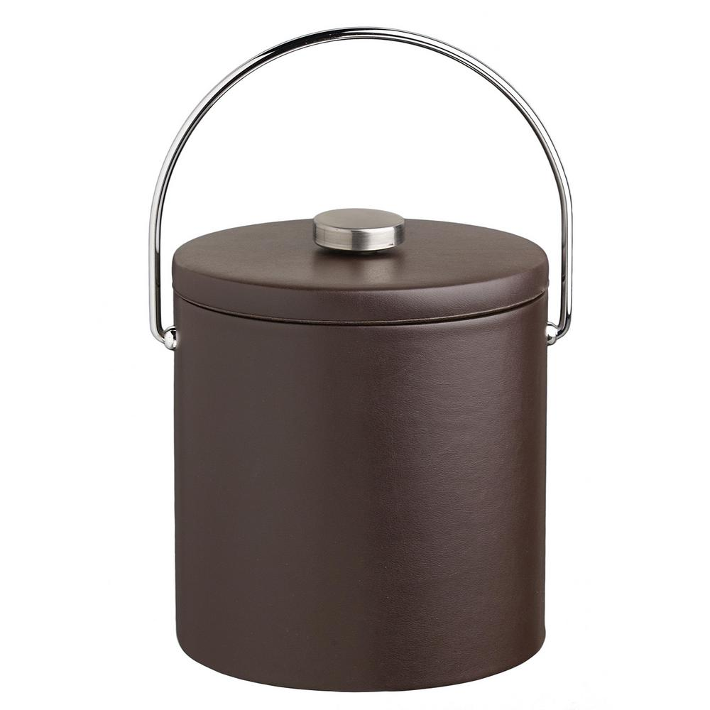 Contempo 3 Qt. Brown Ice Bucket with Bale Handle and Thick