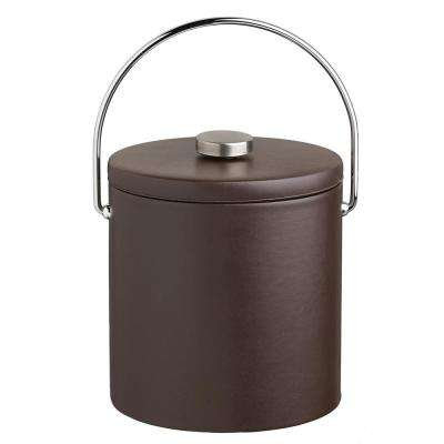 Contempo 3 Qt. Brown Ice Bucket with Bale Handle and Thick Vinyl Lid