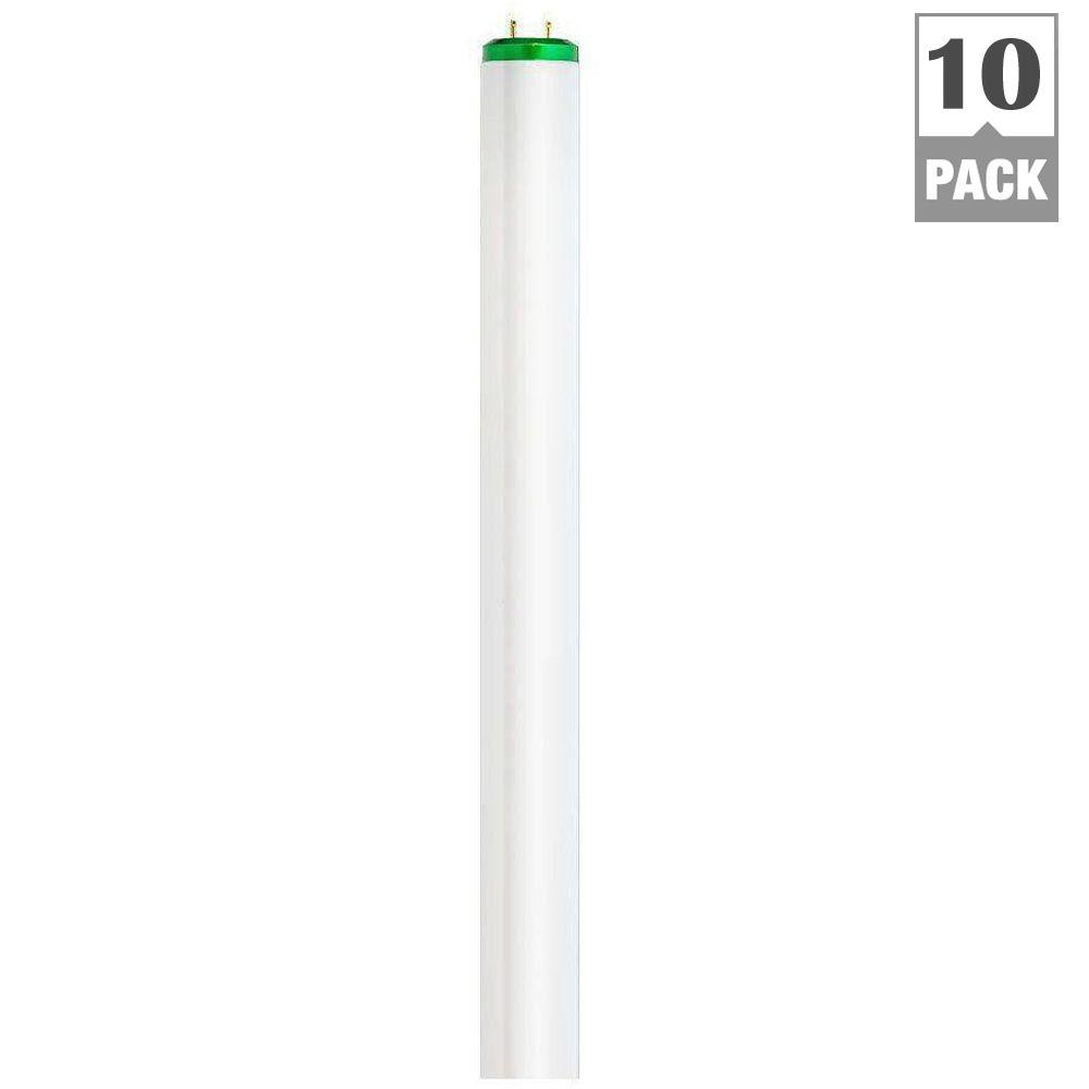 Philips 40-Watt 4 ft. T12 Linear Fluorescent Light Bulb Natural Light Supreme (5000K) (10-Pack)
