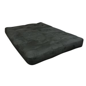 Gold Bond 611 Full 8 inch Foam and Cotton Black Microfiber Futon Mattress by Gold Bond