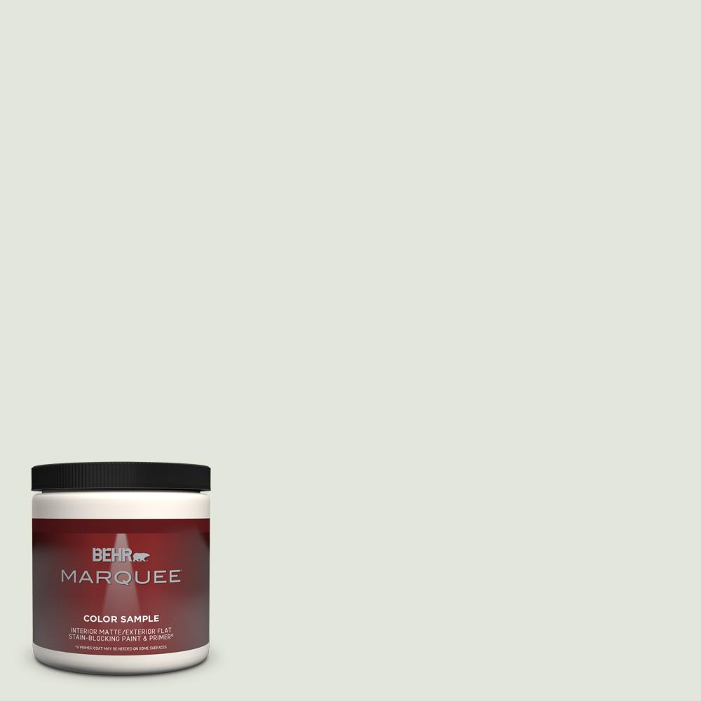 Behr Marquee 8 Oz Bl W06 Whispering Waterfall Matte Interior Exterior Paint Primer Sample Mq30016 The Home Depot
