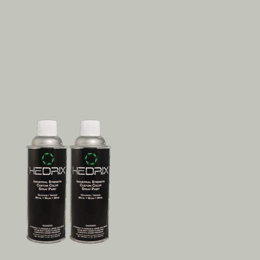 Hedrix 11 oz. Match of 720E-3 Rocky Mountain Sky Low Lustre Custom Spray Paint (2-Pack)