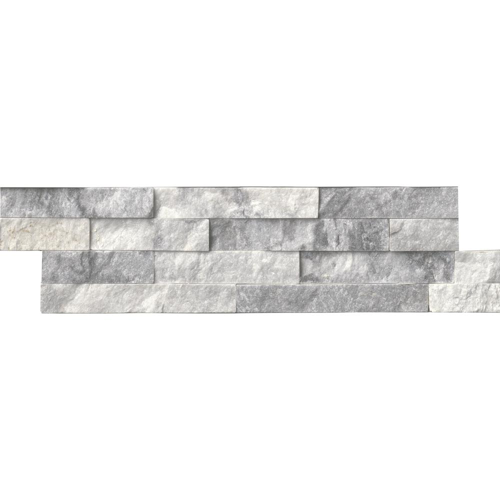 MSI Alaska Gray Ledger Panel 6 in. x 24 in. Natural Marble Wall Tile ...