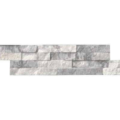 Alaska Gray Ledger Panel 6 in. x 24 in. Natural Marble Wall Tile (10 cases / 60 sq. ft. / pallet)