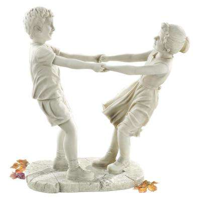 18 in. H Little Girl and Boy Dancing Garden Large Statue