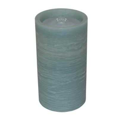 Blue Battery Operated Pillar Candle with Water Fountain