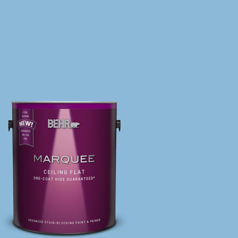1 gal. #MQ5-55 Tinted to Simply Posh Flat Interior Ceiling Paint
