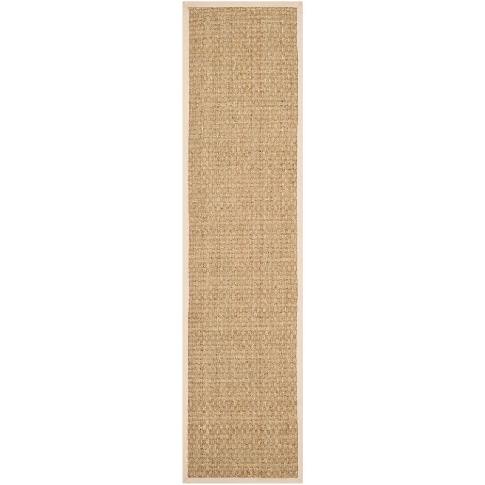 Natural Fiber Tan/Beige 3 ft. x 16 ft. Indoor Runner Rug