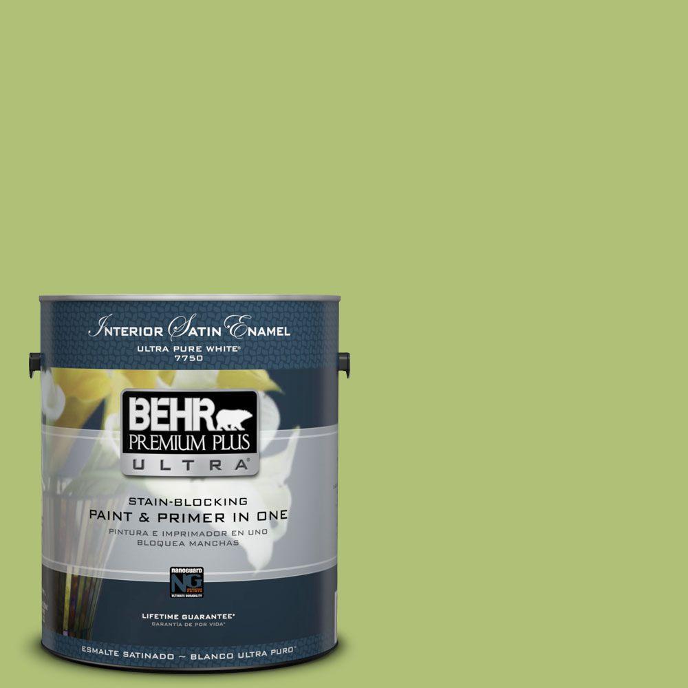1-gal. #HDC-SM14-5 Lavish Lime Satin Enamel Interior Paint