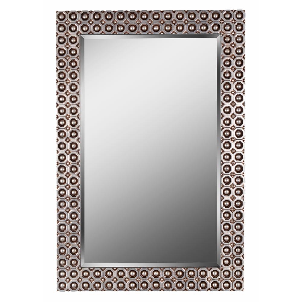 Kenroy Home Bearings 42 In X 28 Gold Wall Mirror