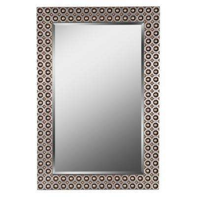 Bearings 42 in. x 28 in. Gold Wall Mirror
