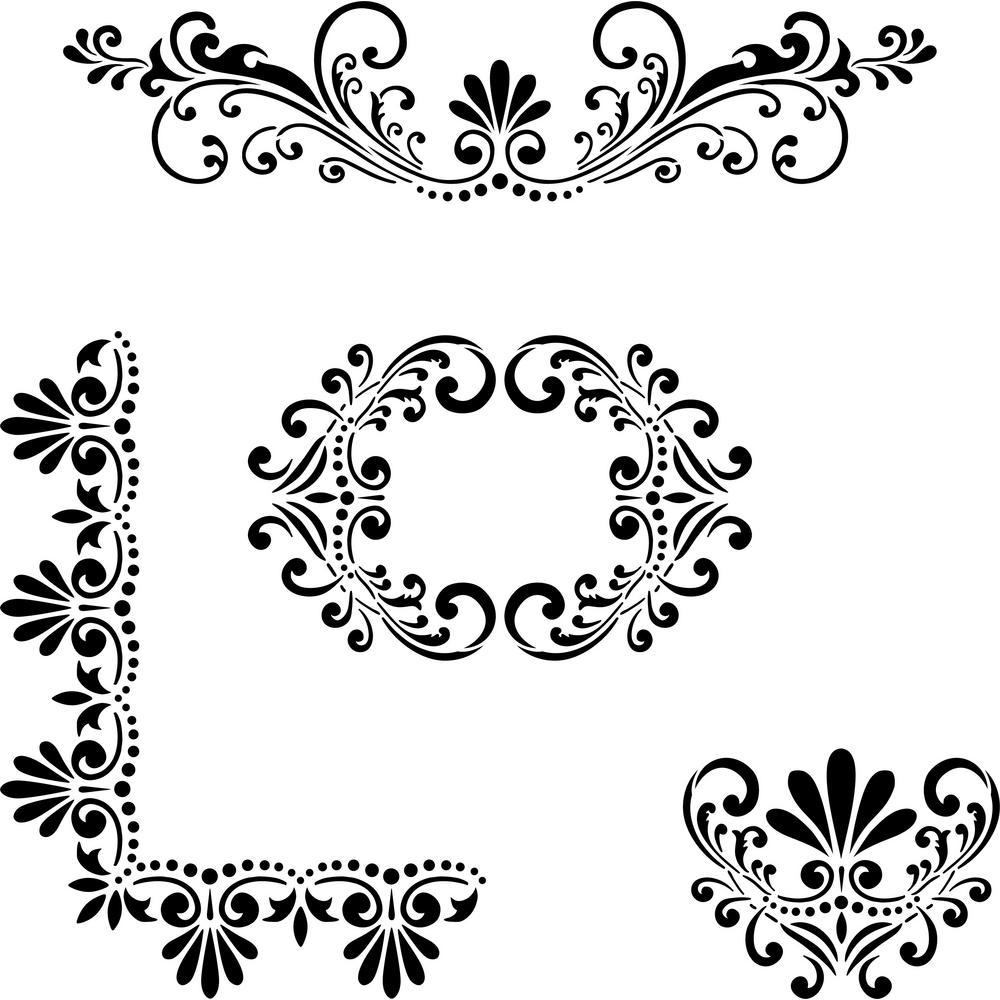 Fleur de Lis Stencil Details