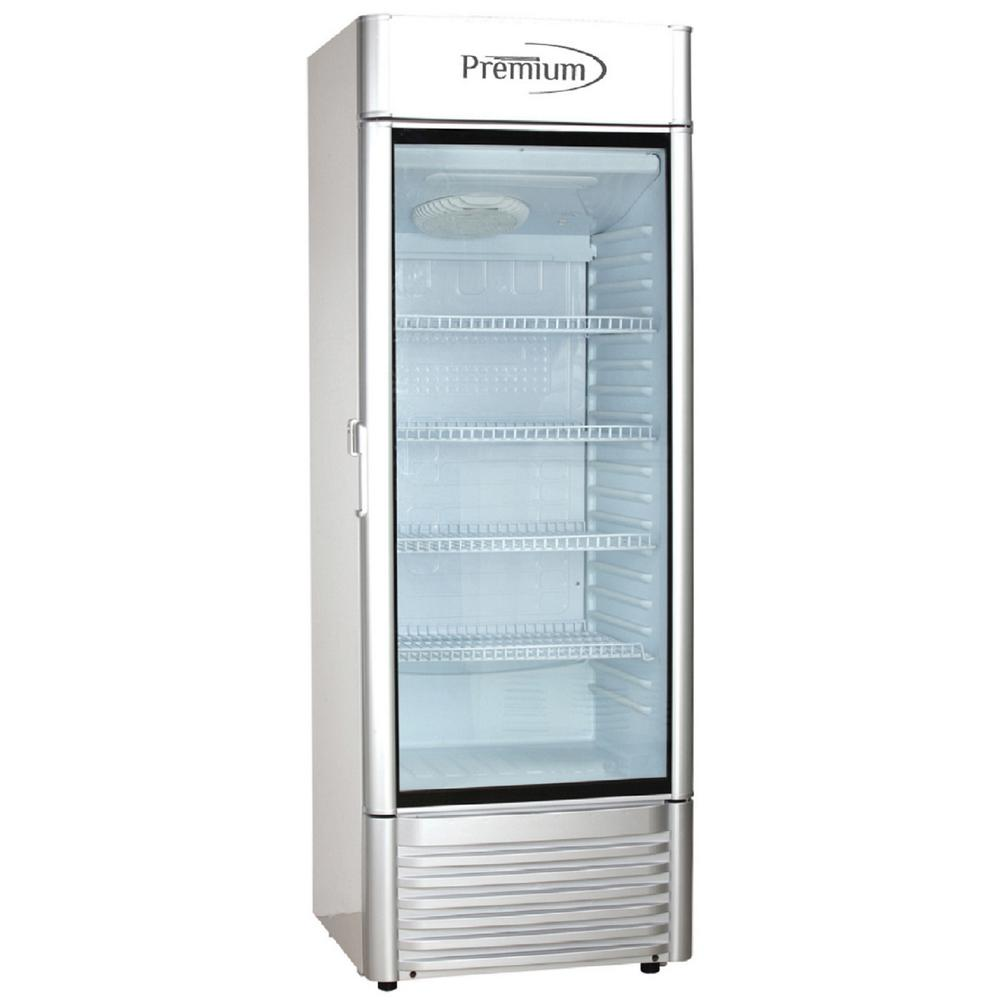 PREMIUM 9.0 cu. ft Single Door Commercial Refrigerator Beverage Cooler in Gray