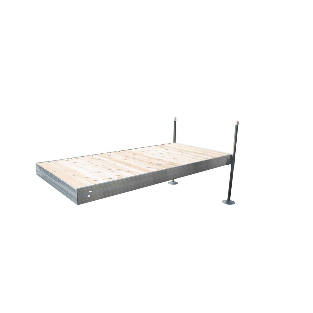 Tommy Docks 8 ft. Long Straight Aluminum Frame with Cedar Decking Complete Dock Package