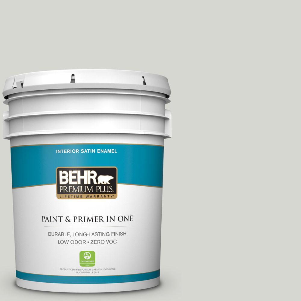 BEHR Premium Plus 5-gal. #N380-1 Mortar Satin Enamel Interior Paint
