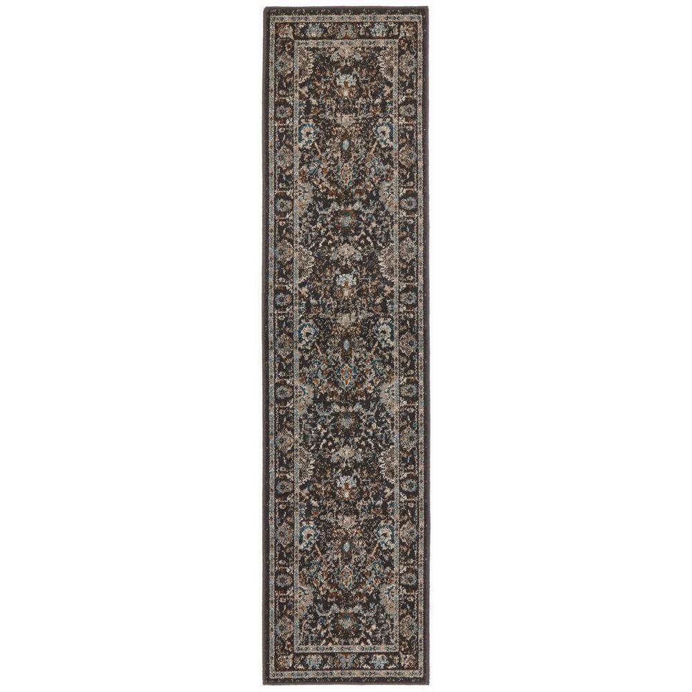 Home Decorators Collection Overdye Gray 1 Ft 10 In X 7 Ft 6 In Runner 451425 The Home Depot