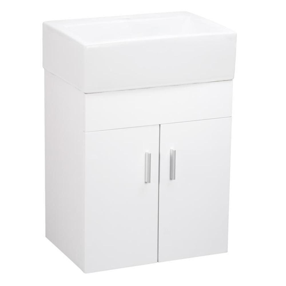 Elanti 17 In Vanity Cabinet With Wall Mounted Rectangle Bathroom
