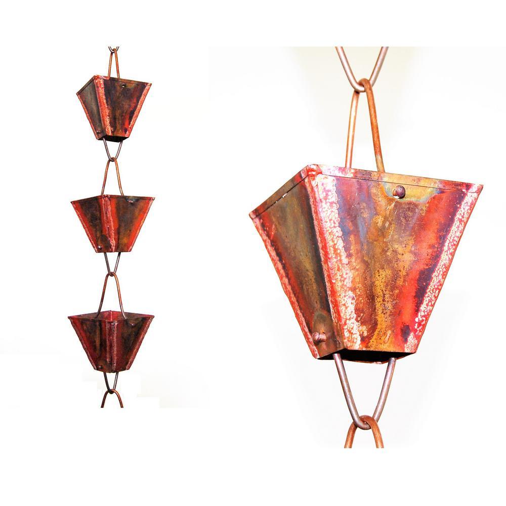 8.5 ft. Pure Copper XL Square Rain Chain