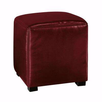 Tracie Red Accent Ottoman
