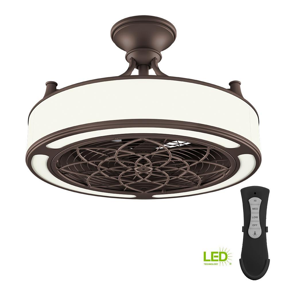 Stile Anderson 22 In Led Indoor Outdoor Bronze Ceiling