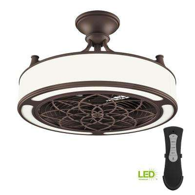 Led Indoor Outdoor Bronze Ceiling Fan With Remote Control