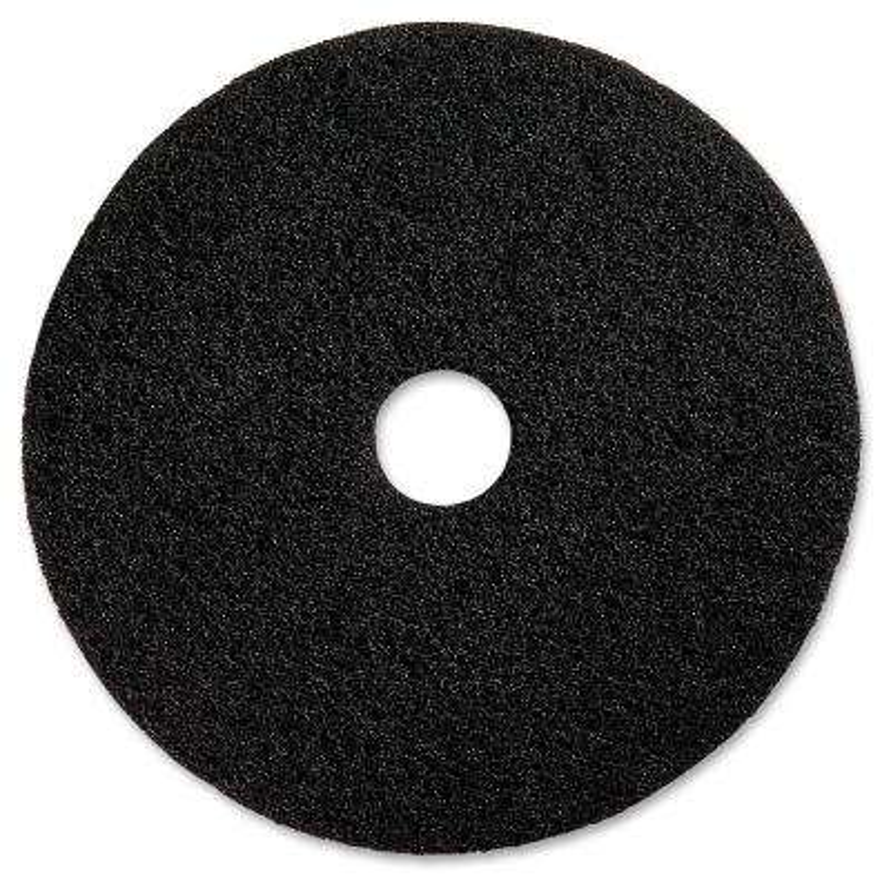20 in. Black Advanced Design Black Floor Pad (5/Carton)
